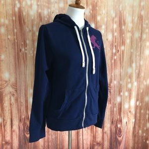 Express Blue Griffon Full Zip Sweatshirt Hoodie